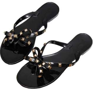 NEW Black Stud Jelly Sandals - Size 6.5 and 7.5
