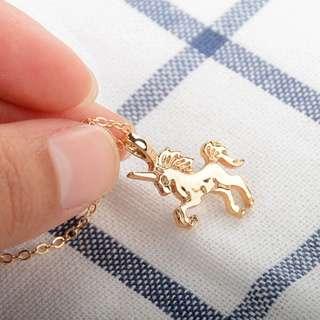 🆕 Gold Unicorn Necklace