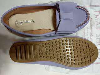 豆豆鞋 D+AF 俏皮可愛.MIT大蝴蝶結莫卡辛豆豆鞋*紫