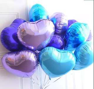 18吋 心形 心心鋁氣球 party 場地佈置
