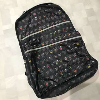 Nylon backpack with patterns