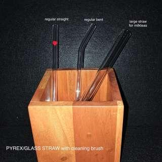 Pyrex/Glass Straws Large (milk tea)