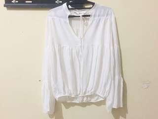Hnm white blouse