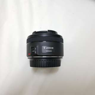 Canon 50mm F1.8 included Miyaki UV lens filter.