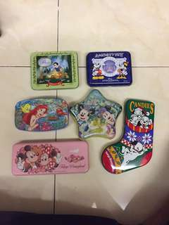 6 Vintage Disney Boxes Cases Original From Tokyo Disneyland Disney Sea Disney Ambassador Hotel