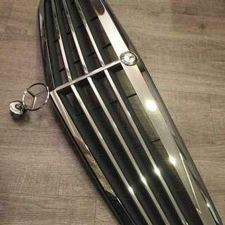 100% Benz 水箱護罩正品(德製)非一般台製!九成新!含Benz logo~也可分開買