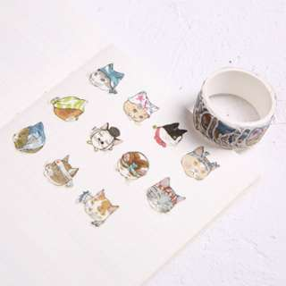 Only 2 Instock! (Mix & Match)* Ninja Cat Stickers Roll