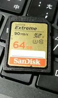 🚚 SanDisk Extreme SDXC 64GB