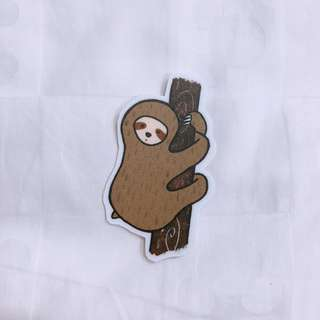 Hugging sloth sticker