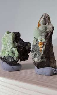 (2pcs) Wavellite Crystal from Arkansas