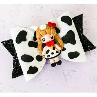 Handmade Cow girl Hairclip
