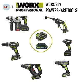 WORX Professional 20v Battery Powershare Tools
