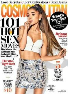 Cosmopolitan magazine Ariana Grande