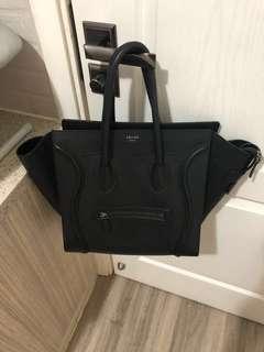 99% new Celine mini Luggage - calf leather