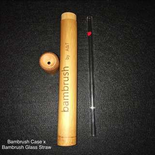 Glass Straw (Straight) with bamboo case