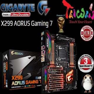 Gigabyte X299 AORUS GAMING 7.., (3 Years Warranty),  + Bundle Together with Intel Intel LGA2066/x299 CPU..., Type of CPU price shown below...