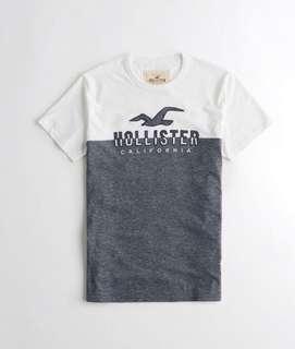 🚚 Hollister Hco 男生圓領logo短袖T恤(正品 現货)