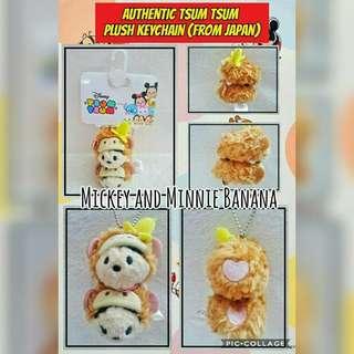 Mickey & Minnie Mouse Tsum Tsum Keychain