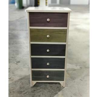PASTELLE 5 Drawer Hand Crafted Cabinet