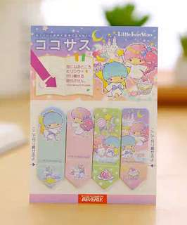 🚚 SANRIO LITTLE TWIN STARS MINI POST ITS / STICKY MEMO PAD / STICK MARKER @ $1.50 PER PAD ONLY!!! READY STOCKS!