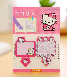🚚 SANRIO HELLO KITTY MINI POST ITS / STICKY MEMO PAD / STICK MARKER @  @ $1.50 PER PAD ONLY!!! READY STOCKS! LIMITED SETS LEFT!!!