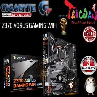 "Gigabyte Z370 AORUS GAMING WIFI.., """"3 Years Warranty "" + Bundle Together with Intel LGA1151 Coffee Lake CPU..., Type of CPU price shown below..."