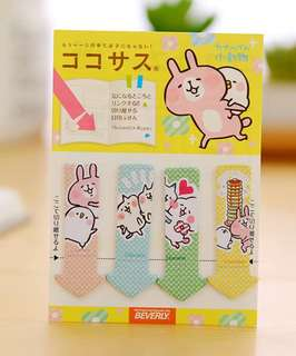 🚚 KANAHEI CUTE BUNNY MINI POST ITS / STICKY MEMO PAD / STICK MARKER @  @ $1.50 PER PAD ONLY!!! READY STOCKS! LIMITED SETS LEFT!!!