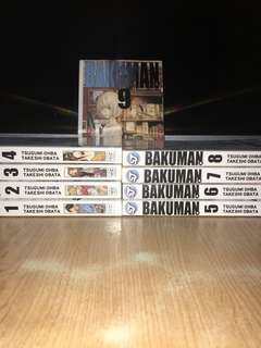 Bakuman Volume 1-9 Shonen Jump Tankōbon