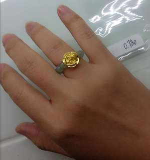 Cincin emas 24k bunga