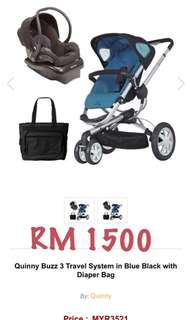 Stroller quinny buzz and maxi cosi carseat