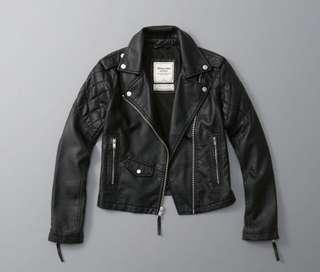 Abercrombie Vegan Leather Biker Jacket Size Small