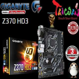 "Gigabyte Z370 HD3, "" 3 Years Warranty "" + Bundle Together with Intel LGA1151 Coffee Lake CPU..., Type of CPU price shown below..."