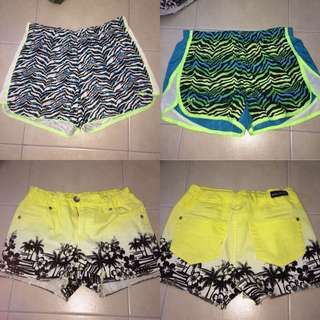 3 pairs of shorts - fit the same size