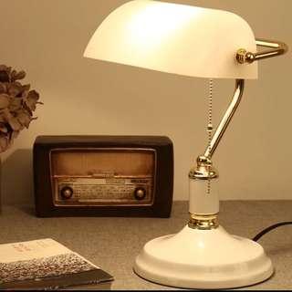 Banker lamp gold metal