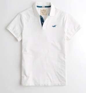 🚚 Hollister男士白色休閒polo衫(正品 現貨)