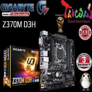 "Gigabyte Z370M D3H.., "" 3 Years Warranty "" + Bundle Together with Intel LGA1151 Coffee Lake CPU..., Type of CPU price shown below..."