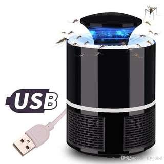 USB Photocatalyst Mosquito killer lamp Mosquito Repellent Bug Insect Trap light UV Light Killing Trap Lamp Fly Repeller (Black/ White)