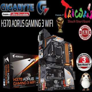 "Gigabyte H370 AORUS GAMING 3 WIFI.., "" 3 Years Warranty "" + Bundle Together with Intel LGA1151 Coffee Lake CPU..., Type of CPU price shown below..."