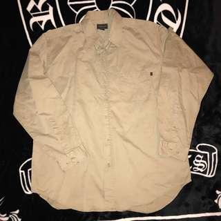 🚚 古著 老品 義大利製 Marlboro Classics MCS 萬寶路 素面 人形標 LOGO 工作襯衫 襯衫外套