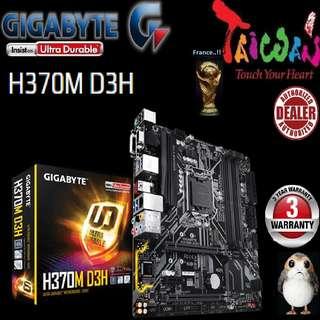 "Gigabyte H370M D3H,  """" 3 Years Warranty """" + Bundle Together with Intel LGA1151 Coffee Lake CPU..., Type of CPU price shown below..."