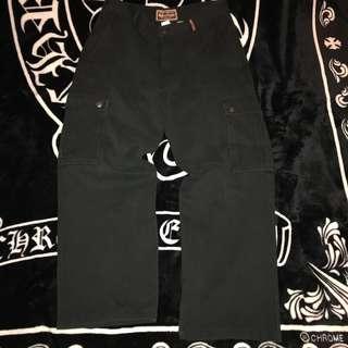 🚚 古著 老品 美國 重磅Marlboro Classics MCS萬寶路 皮革LOGO 素面 側面口袋 工裝褲 工作褲