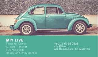 Personal Driver, Rental, Airport Transfer