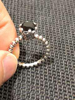 Pandora Size 60 Black Spinel Ring NEW