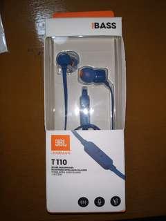 JBL Harman T110 In-ear headphones with mic