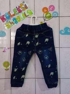 Celana jeans anak jogger anak