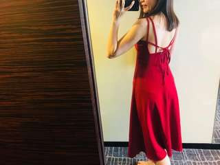 london one piece dress red wine color