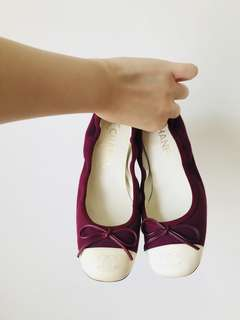 REAL used once 有盒有塵袋 Chanel RARE Ballerina 平底鞋 flats 36.5 半寸 只限天水圍/到付/郵寄