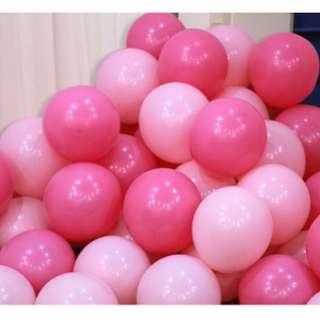 🚚 (In Stock)100pcs Balloons Set(Dark Pink n Light Pink)