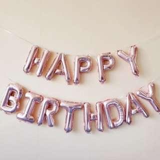 (In Stock)Happy Birthday Foil Balloons Set-Happy Birthday