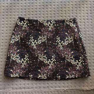 Zara tapestry mini skirt